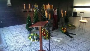 De setupo bij de begrafenis.